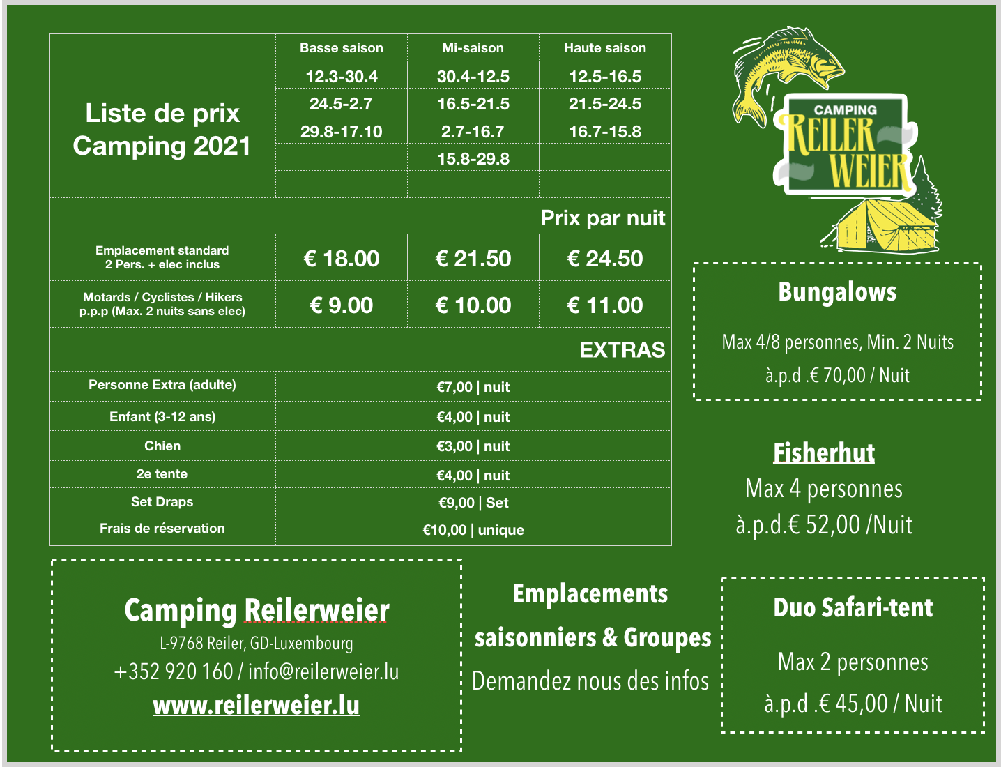 Pricing Camping 2021 FR